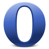 Opera's logo using Facebook colors