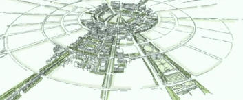 a drawing of free state city