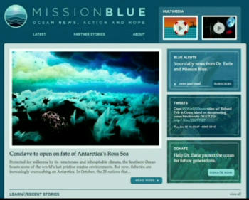 the Mission Blue website
