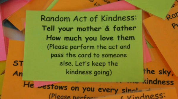 acts of kindness cards