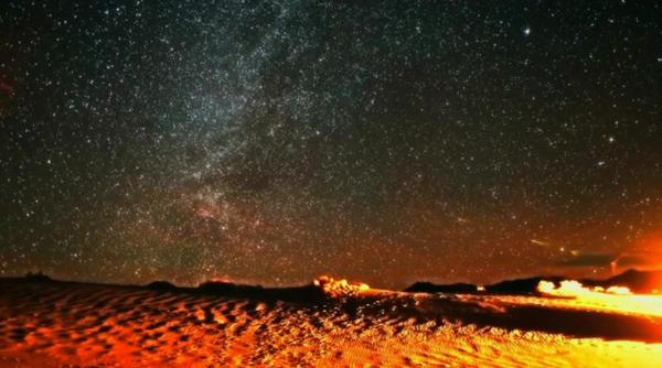 night sky in a desert