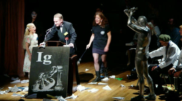 picture from the igNobel ceremony