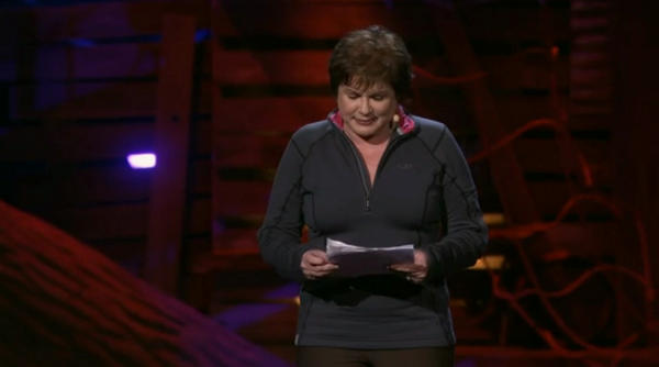 julia Sweeney on the TED stage in 2013