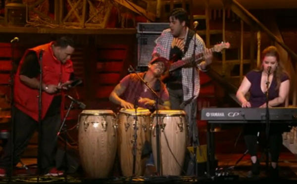 the pedrito martinez group on the TED stage