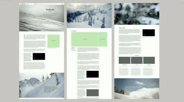 snowfall visualization project