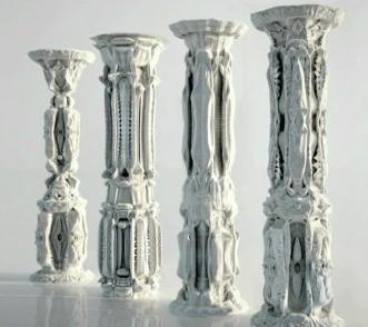 3D folded columns