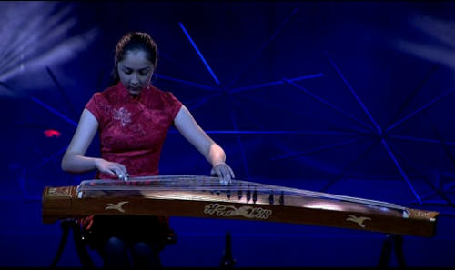 hannah brock playing the guzheng