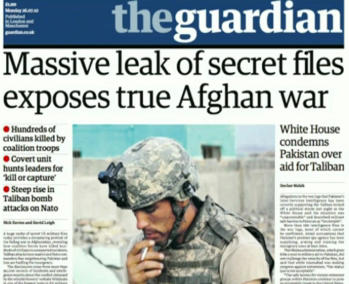 The Guardian wikileaks Afghan war