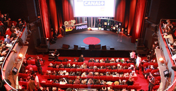 La scene de TEDx Paris