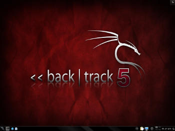 Le bureau de Backtrack 5