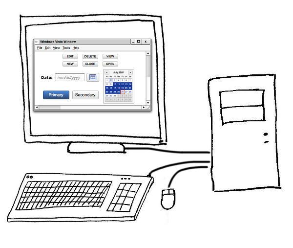 dessin epinardscaramel, un ordinateur