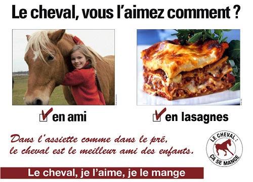 fausse pub sur la viande de cheval
