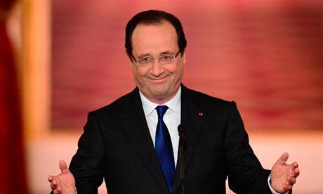 François Hollande, photo the Guardian
