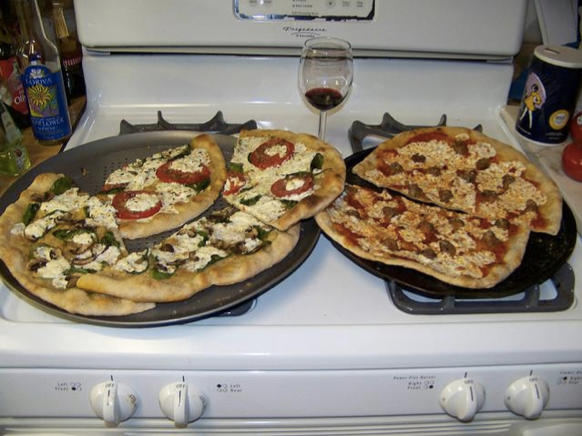 Image utilisée pour tester l'algorithme de reconnaissance des images : des pizzas sur un four
