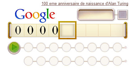 Google's doodle for Turing's anniversary