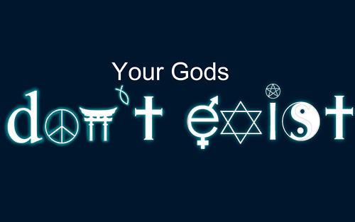 """parodie du logo """"coexist"""""""
