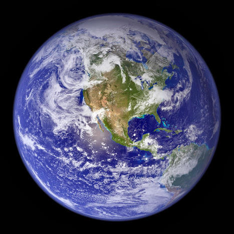 "NASA's 2002 ""blue marble"", west"