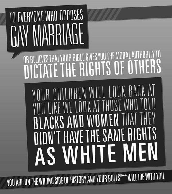 Poster en anglais sur le mariage homosexuel