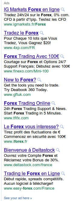 publicités sur le FOREX