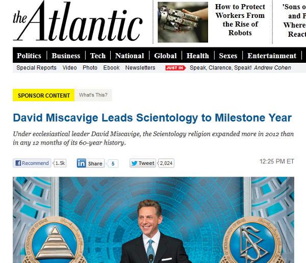 Pub de la secte de scientologie