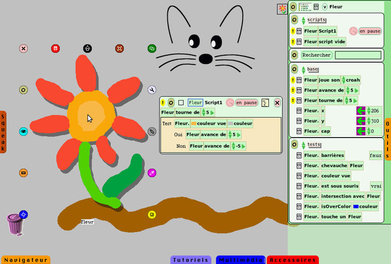 a screenshot of Squeak (wikipedia)