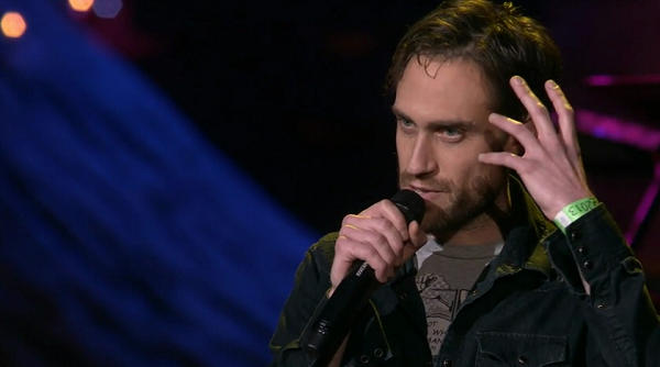 beardyman on the ted stage