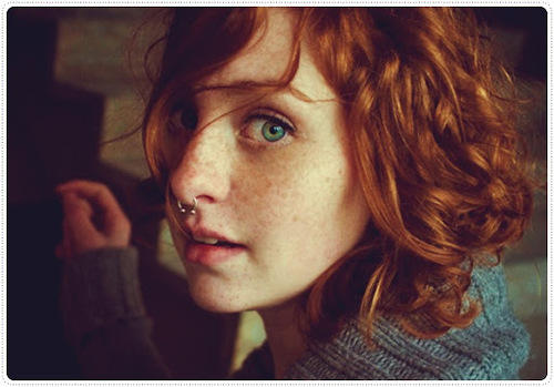 a beautiful redhead girl