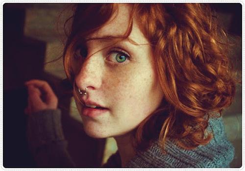 a beautiful redhead girl