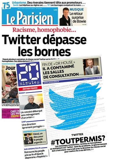 couvertures de journaux français