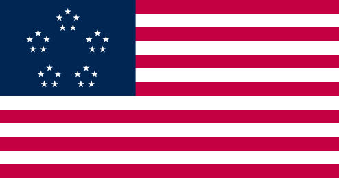 Le drapeau des états-unis, où les étoiles ont été placées par un algorithme.