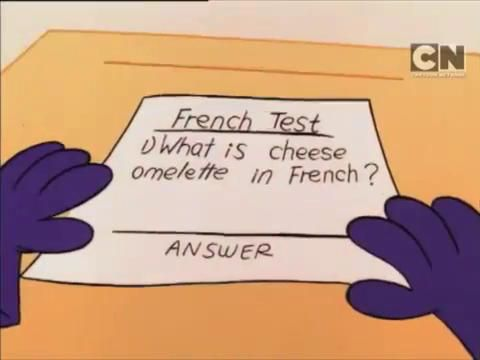 Omelette du fromage [sic]
