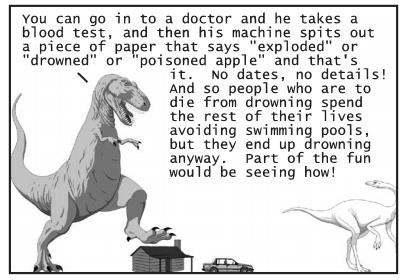 a panel from Dinosaur comics