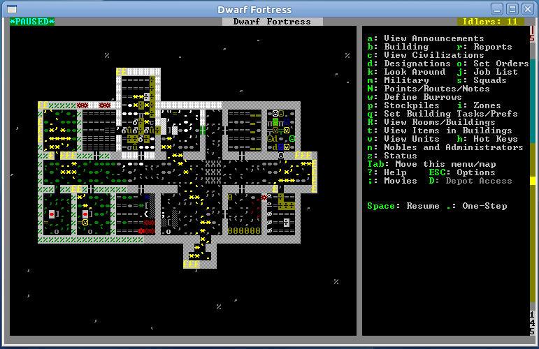 copie d'écran de Dwarf Fortress