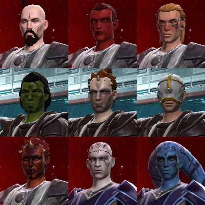the races in SWTOR