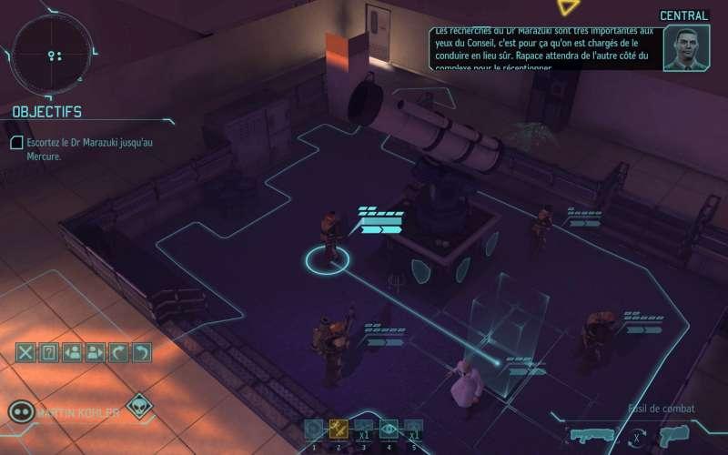 Une image de jeu xcom, phase de combat