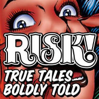 the illustration for the RISK podcast