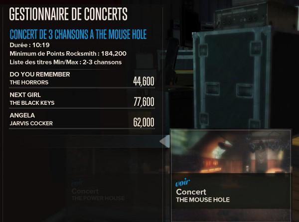 mon score au concert