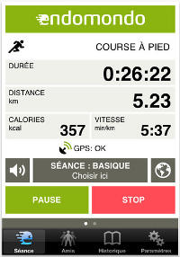 screenshot endomondo