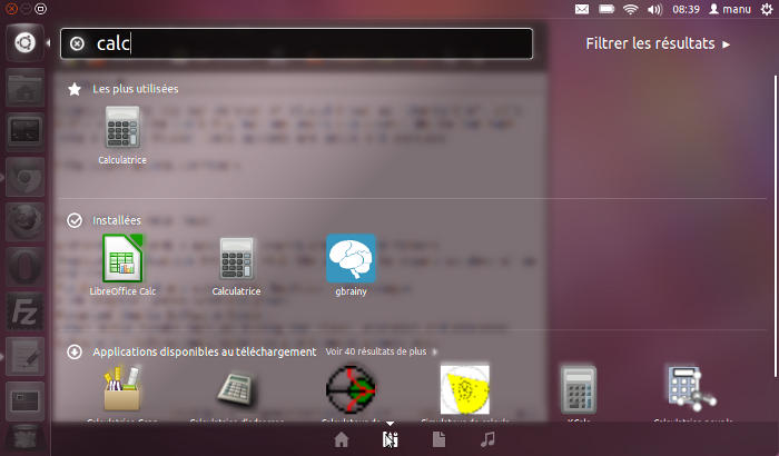 copie d'écran d'ubuntu 11.10